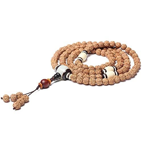 cakunmik Pulsera, 108 Pulsera de Perlas de oración Pulsera Vajra Bodhi Pulsera Diseño Original Cuentas budistas...