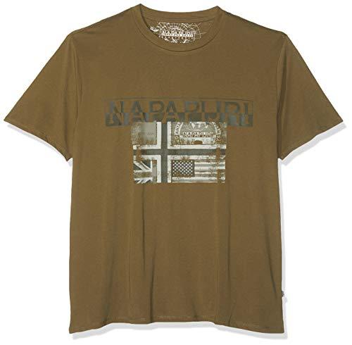 NAPAPIJRI Sawy T-Shirt, Verde (New Olive Green Gd6), Medium Uomo