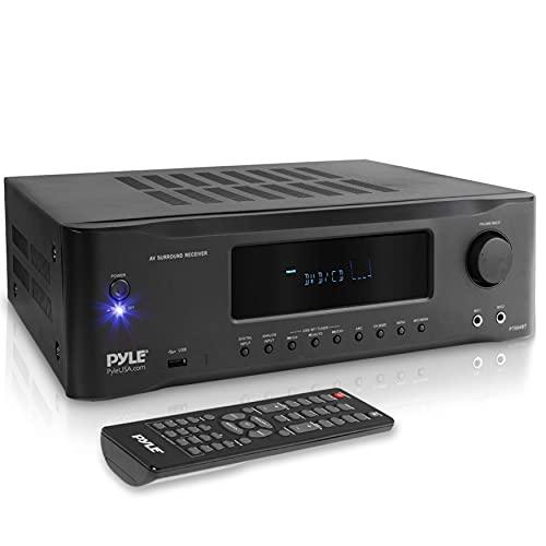5.2-Channel Hi-Fi Bluetooth Stereo Amplifier - 1000 Watt AV Home Speaker Subwoofer Sound Receiver w/Radio, USB, RCA, HDMI, MIC in, Wireless Streaming, Supports 4K UHD TV, 3D, Blu-Ray - Pyle PT694BT.5