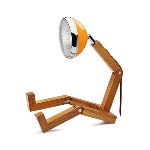 Mr. Wattson LED Tischlampe mit Oldtimer Scheinwerfer - Mclren Orange
