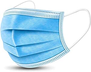 50 Pcs Disposable Surgical Mask Dust Breathable Earloop Antiviral Face Mask, Medical Sanitary Surgical Mask Thick 3-Layer Masks