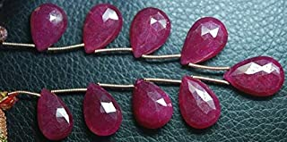 Jewel Beads Natural Beautiful jewellery 7 Inch Strand,Superb-Finest Quality AAA Quality Dyed Ruby Faceted Pear Shape Briolettes, 13-15mm sizeCode:- JBB-38395