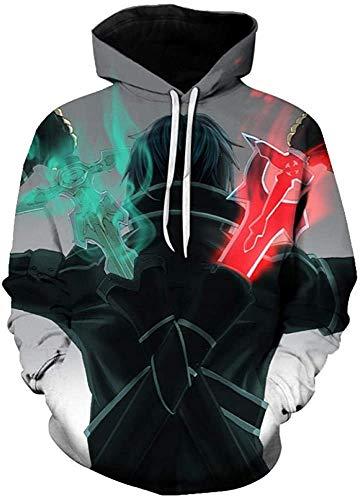 Suéter Fire Phoenix para Hombre, impresión Digital 3D, Tops Europeos y Americanos de Talla Grande para Hombres y Mujeres-3_XS