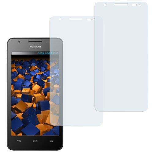 mumbi Schutzfolie kompatibel mit Huawei Ascend G525 Dual Folie klar, Bildschirmschutzfolie (2X)
