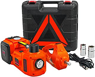 E-HEELP Electric Car Jack 5 Ton 12V Kit Hydraulic Car Jack Lift with Electric Impact Wrench for SUV MPV Sedan Truck Change Tires Garage Repair