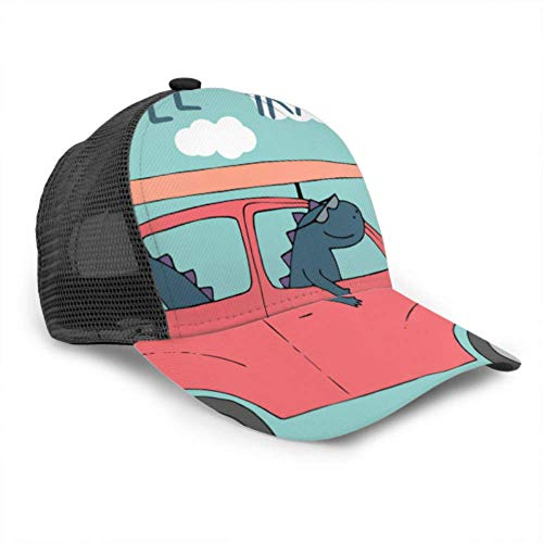 Baseball Cap Männer Frauen, Dinosaurier Auto Retro Kid T-Shirt Spaß verstellbare Trucker Mesh Sommer belüftete Baseball Sun Cap Hut Hüte für Männer