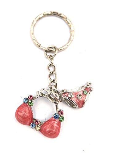 schmuck-stadt Bikini Schlüsselanhänger silberfarben Taschenanhänger