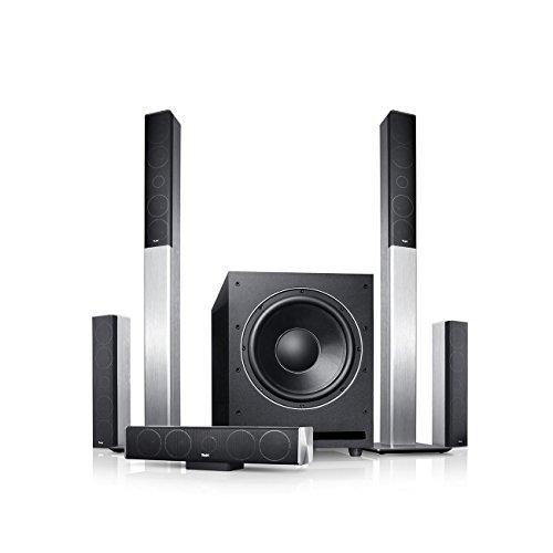 Teufel LT 4 Power XL Edition 5.1-Set M Silber Heimkino Lautsprecher 5.1 Soundanlage Kino Raumklang Surround Subwoofer Movie High-End HiFi Speaker