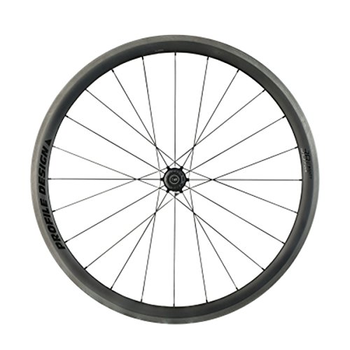 Profile Designs 78/TwentyFour Full Carbon Clincher Road Bicycle Wheel - Rear