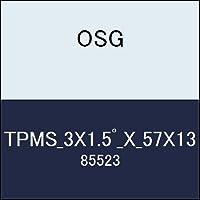 OSG テーパーエンドミル TPMS_3X1.5゚_X_57X13 商品番号 85523