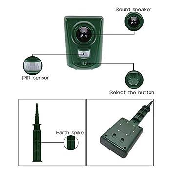 YinKuu Répulsif à ultrasons pour animaux domestiques – Répulsif à piles pour rat, vole, chat, rongeur, etc (batterie non incluse)
