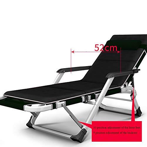 Chaise longue YNN Fauteuil inclinable de Balcon, Ajustement de Positions Multiples 178x52x98cm 4 Couleurs (Couleur : B)