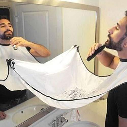 Dorime 120x80cm Impermeabile Floreali Panno Man Beard Bagno Barba Nera Grembiule Capelli Shave Grembiule per l Uomo di Pulizia della Famiglia Protecter