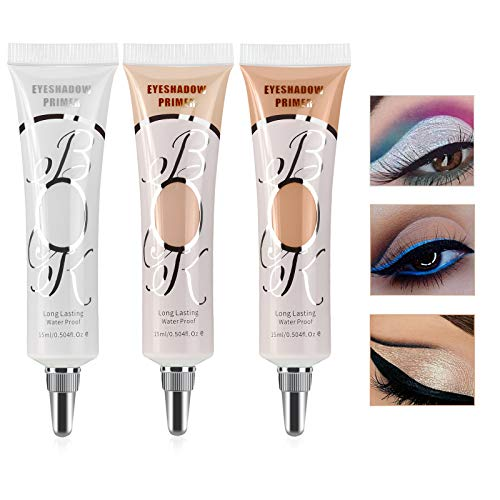 Ownest 3 Colors Eyeshadow Makeup Primer,Liquid Eyeshadow Primer Matte Eyeshadow Primer Base,Waterproof Long Lasting Eyeshadow Primer Makeup-Set A