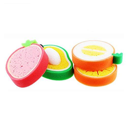SODIAL le Cantaloup pour le Bain le plus Mignon de 4PCS, Fraise, Orange, Lotion de Bain à la Mangue Est Facile à Provoquer à la Mousse, Doux et Ne Nuit Pas à la Peau de Votre BéBé