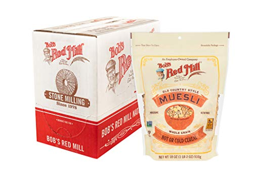 Bob's Red Mill Resealable Old Country Style Muesli Cereal, 18 Ounce (Pack of 4)