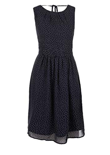s.Oliver Damen 120.12.004.20.200.2033206 Cocktailkleid, Navy AOP Dots, 44
