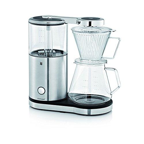 WMF Aroma Master Cafetera de Filtro con Jarra de Cristal, Capacidad de 10 Tazas, Acero Inoxidable, Cromargan Mate y Negro