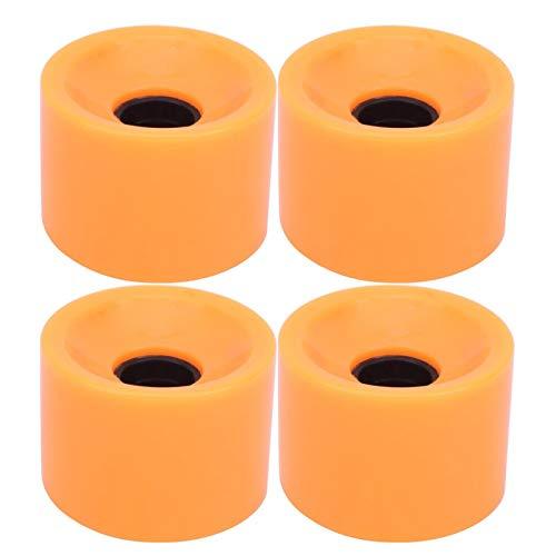 SALALIS Anti-Rutsch-Flash-Rad 4PCS/Set Skateboard Lenkung für Skateboard Pennyboard Waveboard für Jugendliche Erwachsene Anfänger Mädchen Jungen Kinder(orange)
