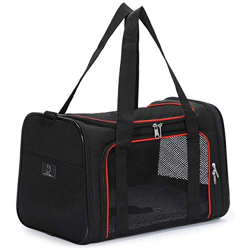 A4Pet Airline Approved Top Loading Cat Carrier for Travel, 17.7 x 11 x 11 Inches