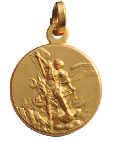 Medalla de San Miguel Arcángel en Plata de Ley 925 - Chapado en Oro