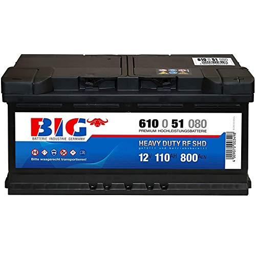 BIG Premium Autobatterie 12V 110Ah 920A Starterbatterie 61051 Wartungsfrei