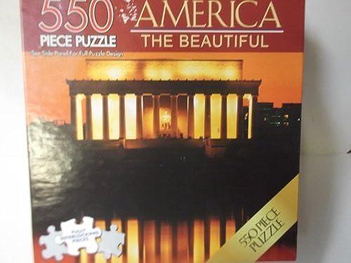 mejor vendido America the Beautiful 550 Piece Piece Piece Abraham Lincoln Memorial Puzzle by America The Beautiful  el precio más bajo