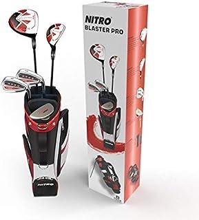 Nitro Golf Blaster Pro ジュニア ボーイズ 8ピース コンプリートセット バッグ付き グラファイト (9~12歳)