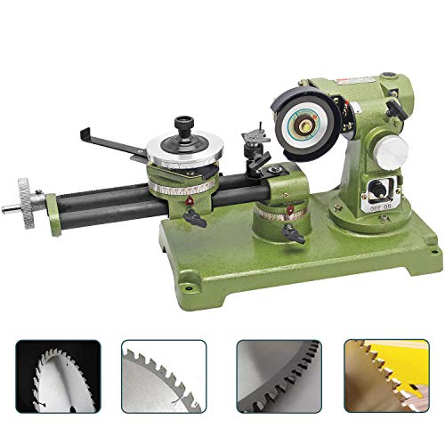Hanchen Circular Saw Blade Sharpener 21.5' Electric Round Saw Blade Grinding Machine for Carbide, HSS, Plastics, Wood Table 350W 0-30°