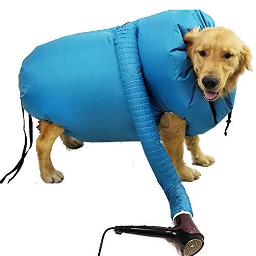 Bolsa de Secado para Mascotas,Secador de Pelo para Mascotas,Secado Portátil para Mascotas Bolsa Plegable Perros Secador De Pelo Golpe Bolsa Y Estética para Mascotas Bolsa del Bolso Seco De Gato (L)