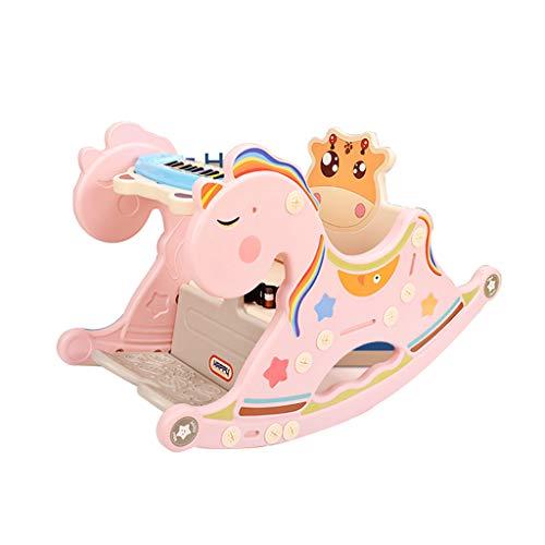 Swings & Chair Bouncers schommelstoel baby spel schommelstoel kinderzitje houten paard speelgoed plastic schommelende paard piano speelgoed 1-2 jaar oud cadeau