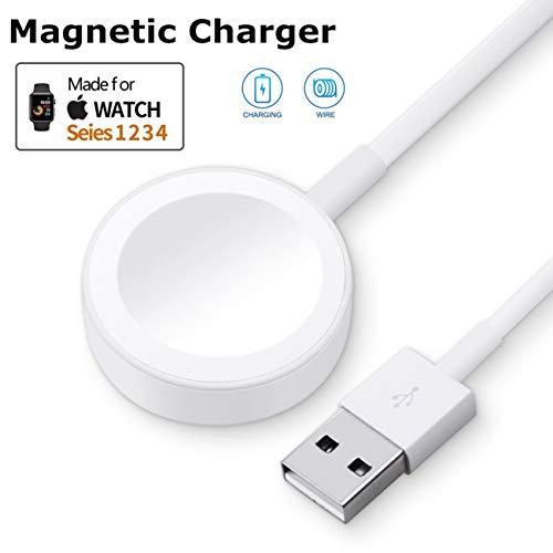 ATETION - Cargador de reloj y cable de carga USB magnético iWatch para Series 1/2/3/4, cable de carga magnético para Apple Watch...