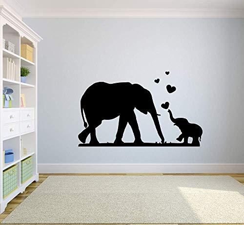 Elefante amor tatuajes de pared animales salvajes dormitorio de los niños guardería sala de estudio decoración del hogar puertas y ventanas pegatinas de vinilo papel tapiz de arte