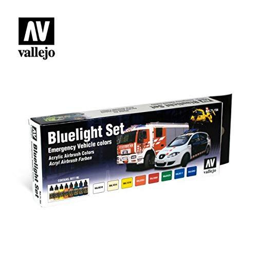 Vallejo Model - Pintura acrílica para aerógrafo (8 unidades), colores variados