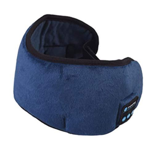 3D Bluetooth Schlafmaske Hifi Kopfhörer Drahtlose Lautsprecher Musik Augenmaske für Flugzeug Schlafen Reisen Entspannung (Color : Blue)