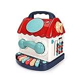 Lihgfw Baby Pädagogisches Tamburin-Spielzeug, Multifunktionale Hexaheder-Box-Bausteine, Handtrommel, Baby-frühe Bildung Pädagogisches Tamburin-Spielzeug, (Color : Multi-Colored)