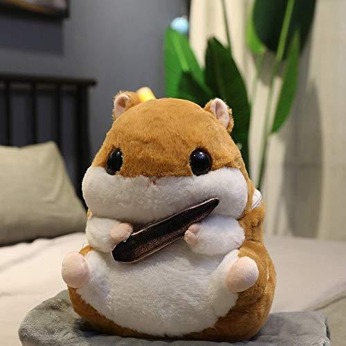 Süße Hamster Plüsch Spielzeug 3 in 1 Multifunktions Hamster Hand warm mit Decke Spielzeug Hamster Kissen Kinder Spielzeug Geburtstagsgeschenk for Kind Blau Nur Spielzeug, Größe: Spielzeug mit Wärmer,
