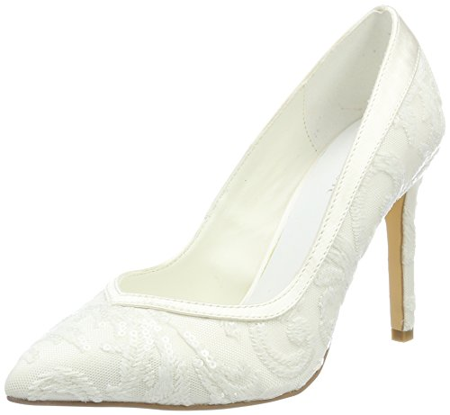 Menbur Wedding Damen Giovanna Pumps, Elfenbein (Ivory), 37 EU