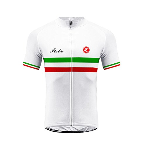 Uglyfrog Sport & Freizeit Herren Outdoor Italienische Flagge Design Sport MTB Fahrradbekleidung Fahrradtrikot Radsport Kurzarmtrikot Radfahren Trikot