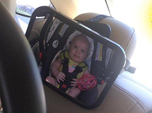 Miroir de bébé arrière de 360 degrés réglable arrière voiture de voiture endoscopie bébé miroir de vue