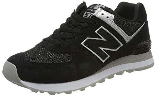 New Balance Damen 574v2 Sneaker, Schwarz (Black/Grey Ez), 41 EU