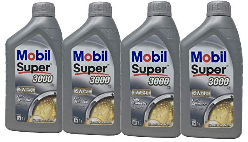 Aceite Lubricante Motor - Mobil Super 3000 X1 5W-40, Pack 4 litros