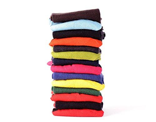 Saint Crespin Semainier de chaussettes à pressions - Femme - Made in France - Coton Fil d'Ecosse - 35 au 41 (35-38, Multicolore)