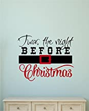 Enchantingly Elegant lc033a TWAS The Night Before Christmas Vinyl Decal Wall Decor Stickers Lettering Home Décor 27x22, 27