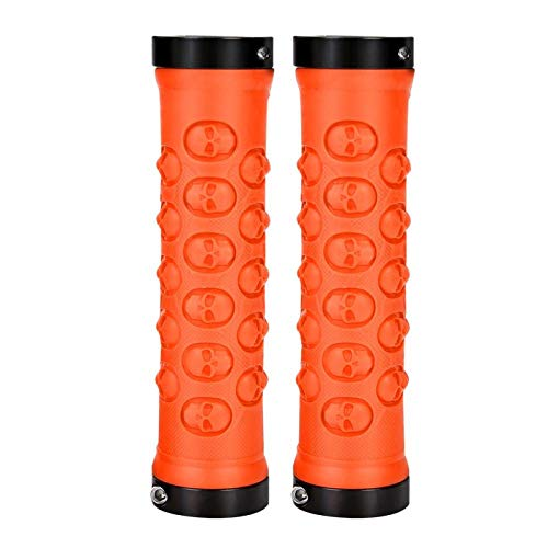 DAUERHAFT Comfortable Durable Locking Grips Anti-slip Sturdy Cycling Accessory for Road Bike(Orange)