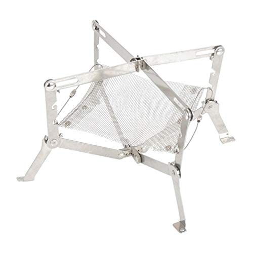 BESPORTBLE Camping Fire Pit Portable Fire Pit Stainless Steel Mesh Collapsible Foldable Fire Pit Outdoor Fireplace Campfire Pit for Backyard Beach and Wood Burning with Carry Bag