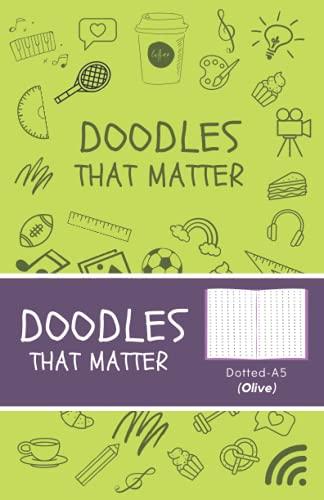 Doodles That Matter A5 Dotted Journal (Olive): Libreta de Puntos, Diario Punteado, Diari de puntos A5 de Doodles That Matter, Cuaderno Bullet Journal Dot Grid, Versión icónica