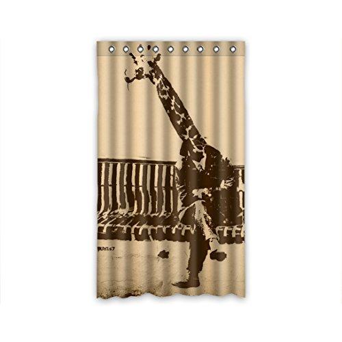 Doubee Custom Duschvorhänge Animals Giraffe 100prozent Polyester Gardinen 127cm x 213cm (1 Stück)