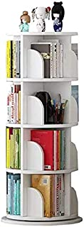 Bibliothèque Freestanding 4 étagères bibliothèques, Voir et Magasin Livre tournant, Affichage et Stockage de Jouets, Meubl...