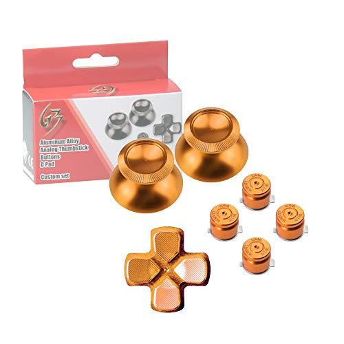 Gam3Gear Botón del metal de aluminio Thumbstick D-pad de bala Mod Conjunto de PS4 Controlador de Oro
